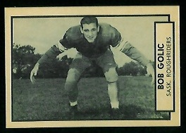 Bob Golic 1962 Topps CFL football card