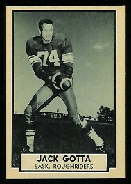 Jack Gotta 1962 Topps CFL football card