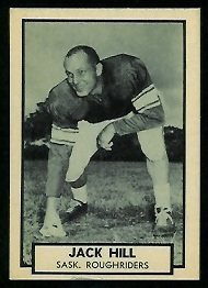 Jack Hill 1962 Topps CFL football card