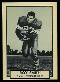 Ray Smith 1962 Topps CFL football card