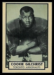 Cookie Gilchrist 1962 Topps CFL football card