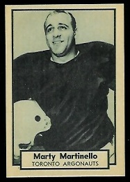 Marty Martinello 1962 Topps CFL football card
