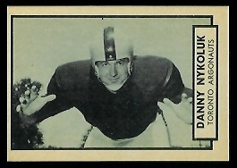 Danny Nykoluk 1962 Topps CFL football card