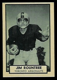 Jim Rountree 1962 Topps CFL football card