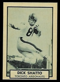 Dick Shatto 1962 Topps CFL football card