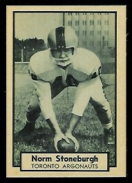 Norm Stoneburgh 1962 Topps CFL football card