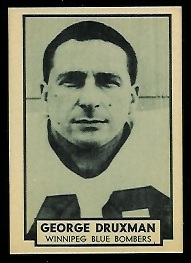 George Druxman 1962 Topps CFL football card