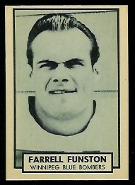 Farrell Funston 1962 Topps CFL football card