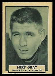 Herb Gray 1962 Topps CFL football card