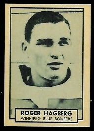 Roger Hagberg 1962 Topps CFL football card