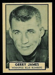 Gerry James 1962 Topps CFL football card