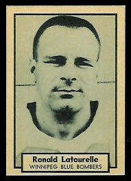 Ron Latourelle 1962 Topps CFL football card