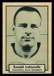 Ron Latourelle 1962 Topps CFL football card