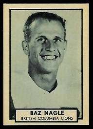 Baz Nagle 1962 Topps CFL football card