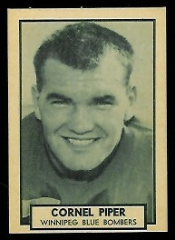 Cornel Piper 1962 Topps CFL football card