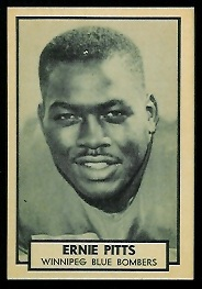 Ernie Pitts 1962 Topps CFL football card