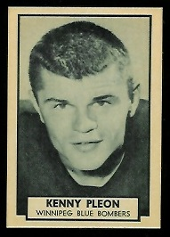 Ken Ploen 1962 Topps CFL football card
