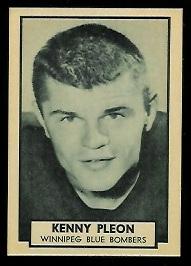 Ken Ploen 1962 Topps CFL football card