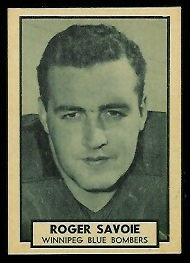 Roger Savoie 1962 Topps CFL football card