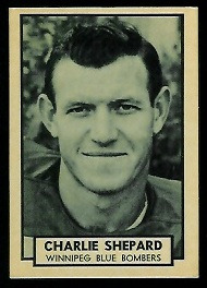 Charlie Shepard 1962 Topps CFL football card