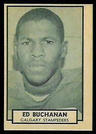 Ed Buchanan 1962 Topps CFL football card