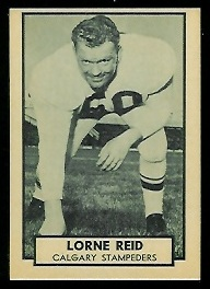 Lorne Reid 1962 Topps CFL football card