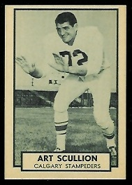 Art Scullion 1962 Topps CFL football card