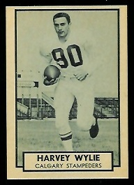 Harvey Wylie 1962 Topps CFL football card