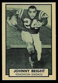 John Bright 1962 Topps CFL football card