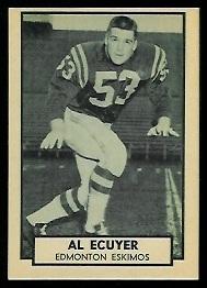 Al Ecuyer 1962 Topps CFL football card