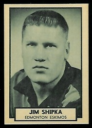 Jim Shipka 1962 Topps CFL football card