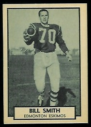 Bill Smith 1962 Topps CFL football card