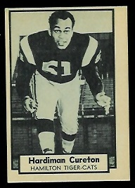 Hardiman Cureton 1962 Topps CFL football card