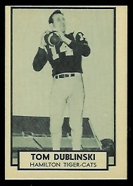 Tom Dublinski 1962 Topps CFL football card