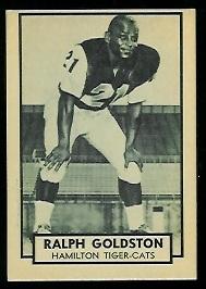 Ralph Goldston 1962 Topps CFL football card