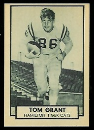 Tommy Grant 1962 Topps CFL football card