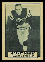 Garney Henley 1962 Topps CFL football card