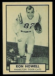 Ron Howell 1962 Topps CFL football card
