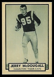 Gerry McDougall 1962 Topps CFL football card