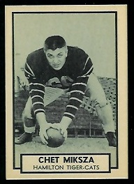Chet Miksza 1962 Topps CFL football card