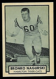 Bronko Nagurski Jr. 1962 Topps CFL football card