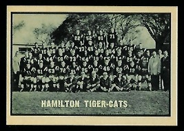 Hamilton Tiger-Cats Team 1962 Topps CFL football card