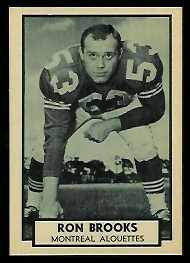 Ron Brooks 1962 Topps CFL football card