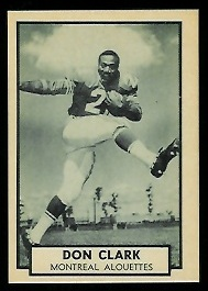Don Clark 1962 Topps CFL football card