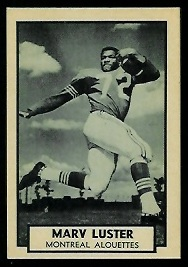 Marv Luster 1962 Topps CFL football card