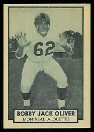 Bobby Jack Oliver 1962 Topps CFL football card