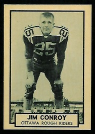 Jim Conroy 1962 Topps CFL football card