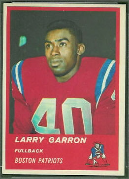 Larry Garron 1963 Fleer football card