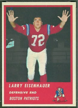 Larry Eisenhauer 1963 Fleer football card
