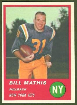 Bill Mathis 1963 Fleer football card